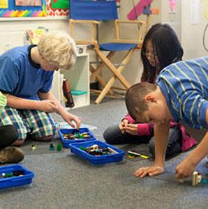 Halton Hills Christian School Kids Playing with Lego Bricks