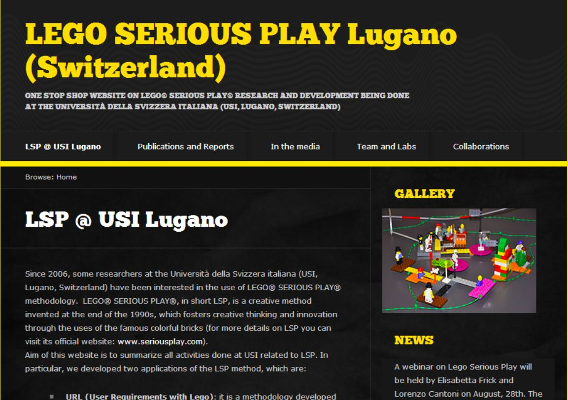 Lego Serious Play Webinar 28 August 2014