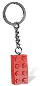 Lego Red Brick Keychain