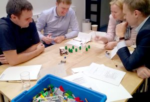 Group working with Lego Serious Play