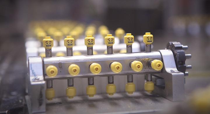 Minifigure Heads Production Line At Billund Lego Factory