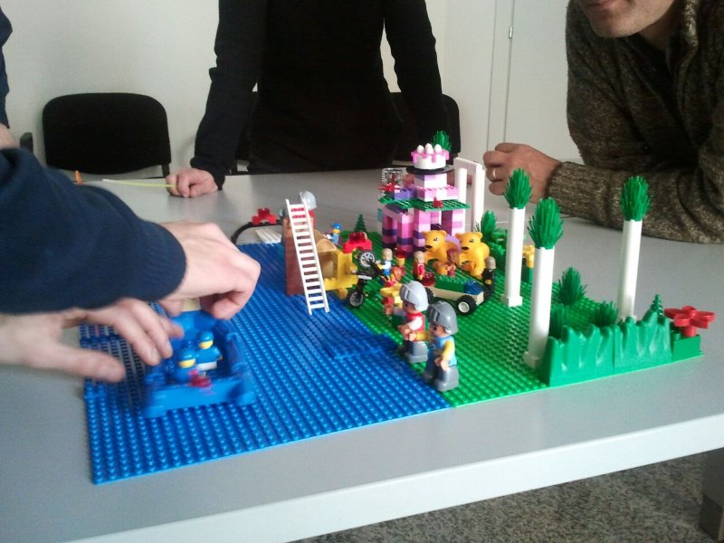 Photo from LEGO SERIOUS PLAY exercise