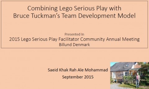 Combining LEGO SERIOUS PLAY with Bruce Tuckmans Team Development Model