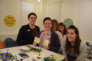 Lego model a team built to show how to increase links to friends and advocates to strengthen acceptance and belonging in community.
