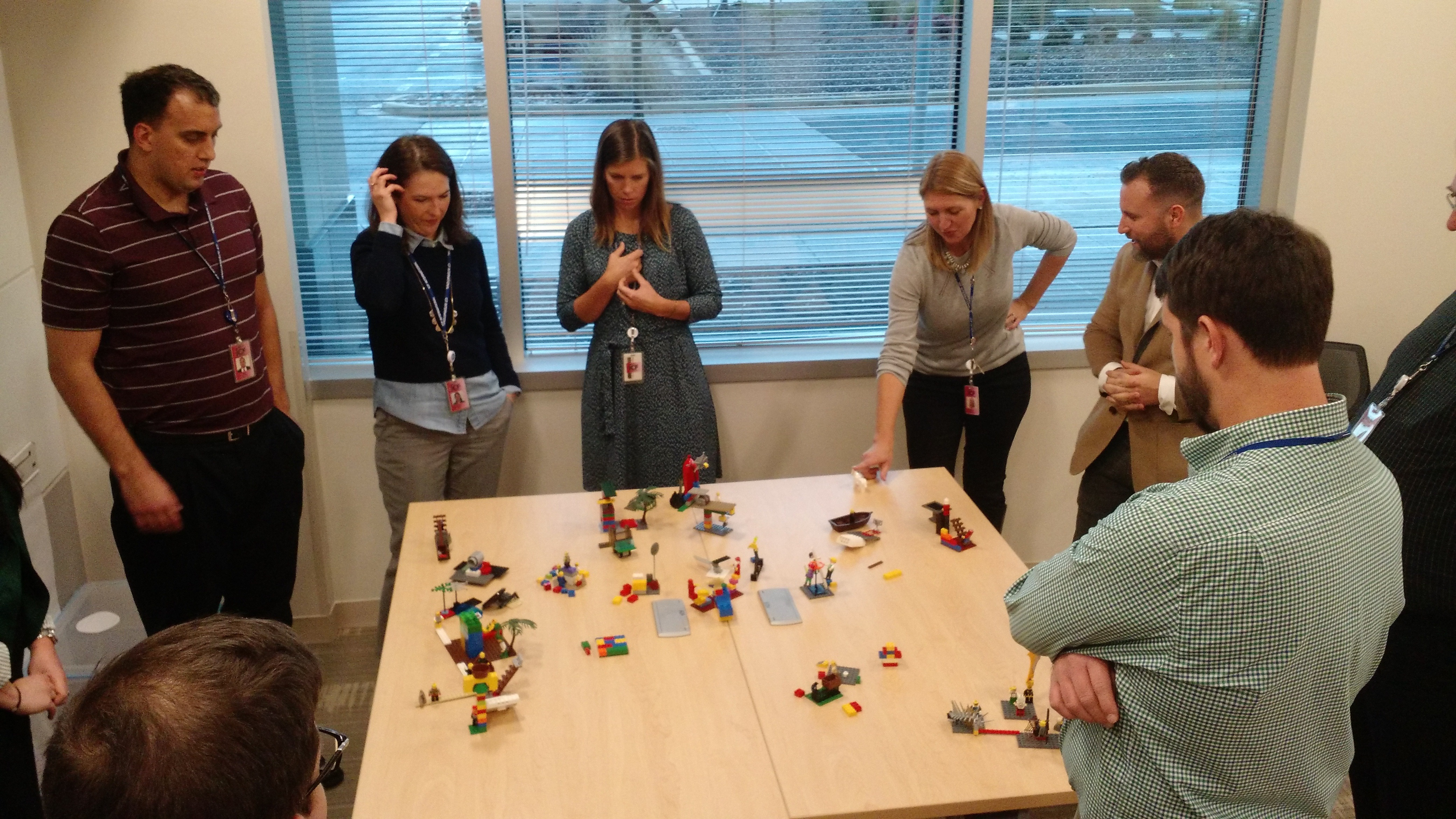 Picture of lego models and builders