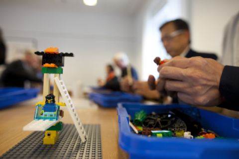 Using LEGO to help create a vision or mission statement