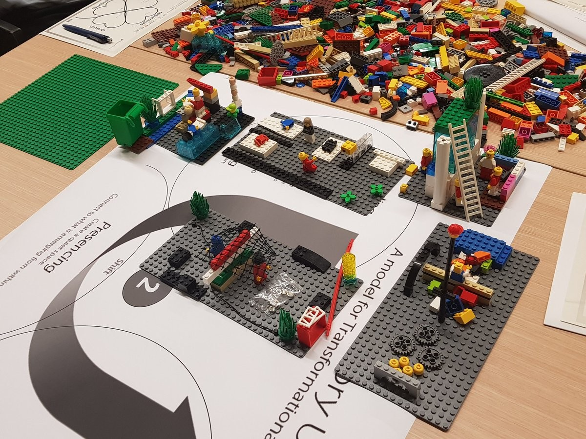 Fig 5: LEGO@ Serious Play® Landscape created by one of the teams, reflecting the shared vision of the team of an specific challenge, applying Theory U