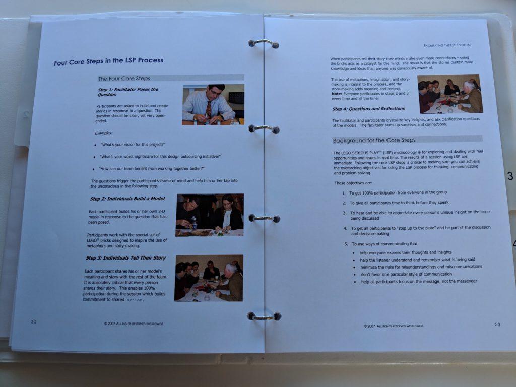 4 Steps Core Process - White Facilitator Manual (C) LEGO Group 2007