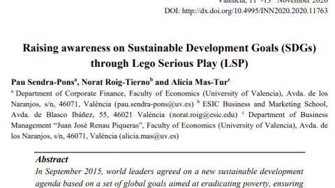 Raising awareness on Sustainable Development Goals through LEGO Serious Play