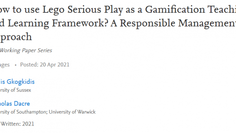 Gkogkidis Dacre Lego Serious Play as Gamification Learning Framework
